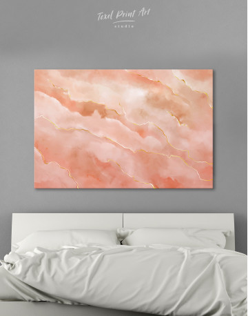 Rose Gold Abstract Canvas Wall Art