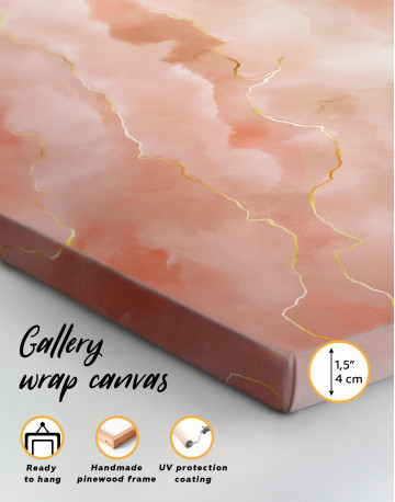 Rose Gold Abstract Canvas Wall Art - image 8