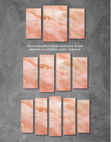 Rose Gold Abstract Canvas Wall Art - image 5