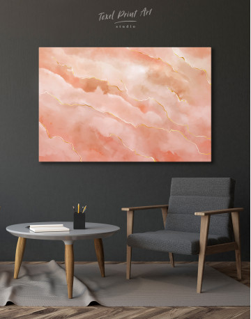 Rose Gold Abstract Canvas Wall Art - image 4