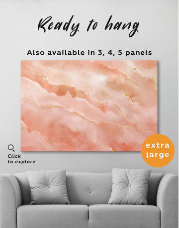 Rose Gold Abstract Canvas Wall Art - image 3