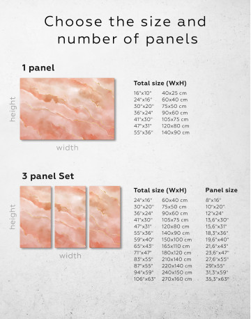 Rose Gold Abstract Canvas Wall Art - image 2