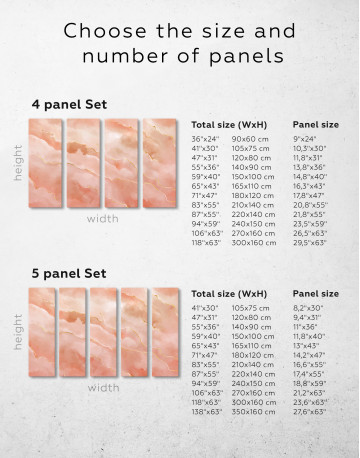 Rose Gold Abstract Canvas Wall Art - image 1