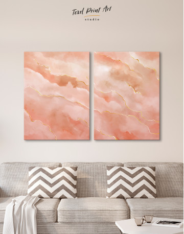 Rose Gold Abstract Canvas Wall Art - image 10