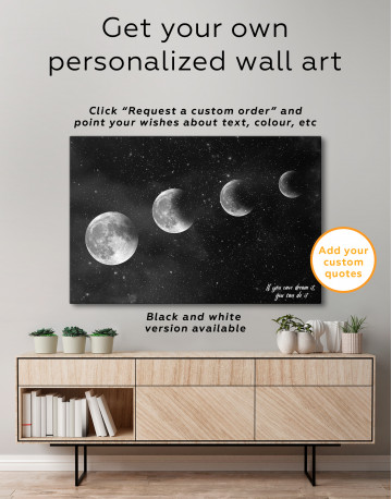 Eclipse of the Moon Canvas Wall Art - image 4