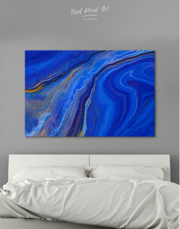 Indigo Abstract Canvas Wall Art