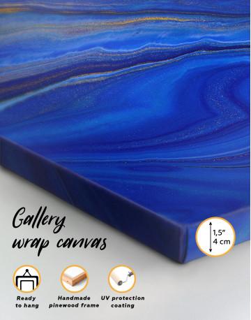 Indigo Abstract Canvas Wall Art - image 8