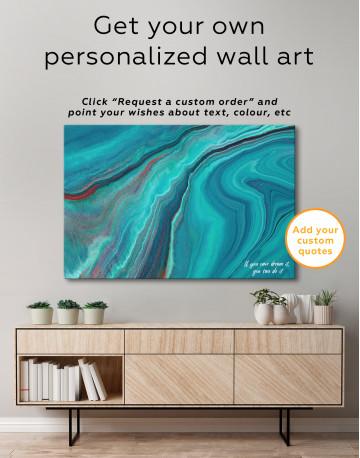 Indigo Abstract Canvas Wall Art - image 7