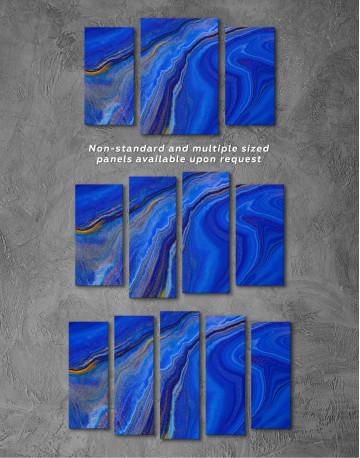 Indigo Abstract Canvas Wall Art - image 5