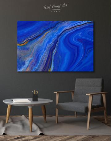 Indigo Abstract Canvas Wall Art - image 4