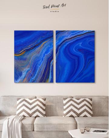 Indigo Abstract Canvas Wall Art - image 10