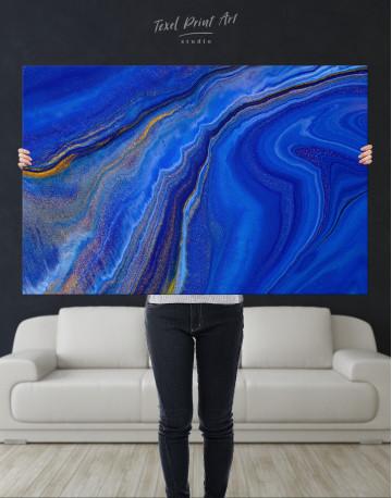 Indigo Abstract Canvas Wall Art - image 9