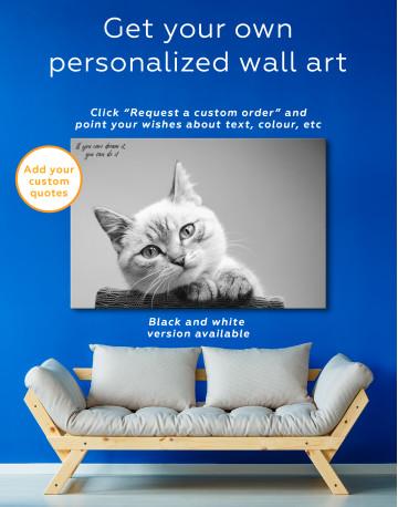 Cute Kitten Canvas Wall Art - image 1