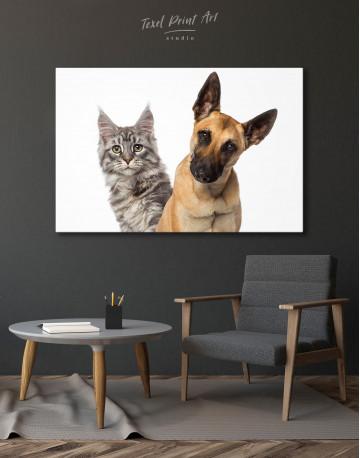 Belgian Shepherd and Maine Coon Canvas Wall Art - image 4
