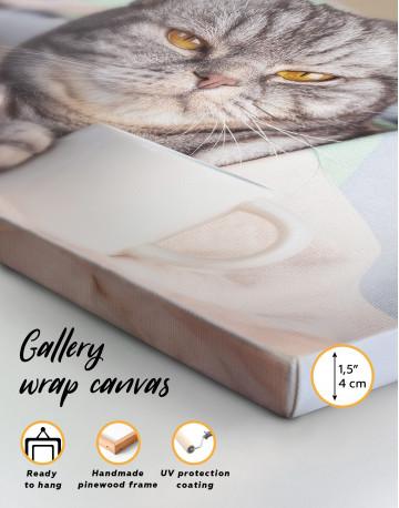 Cute Scottish fold Canvas Wall Art - image 8