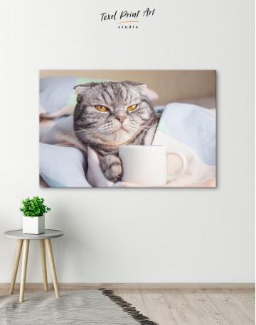 Cute Scottish fold Canvas Wall Art - image 2