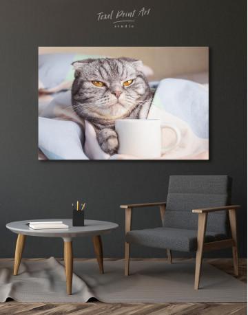 Cute Scottish fold Canvas Wall Art - image 4