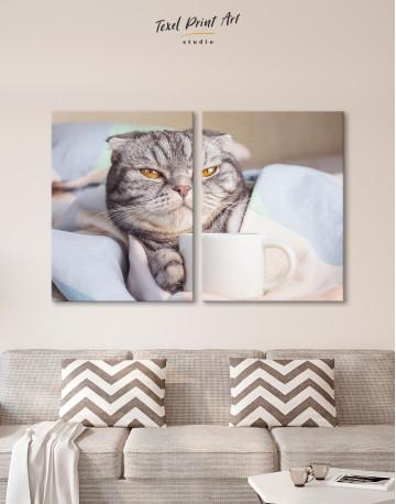 Cute Scottish fold Canvas Wall Art - image 10