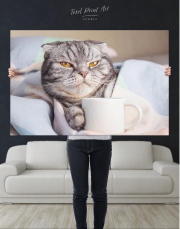 Cute Scottish fold Canvas Wall Art - image 9