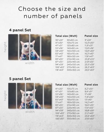 Stylish Cat Hipster Canvas Wall Art - image 8
