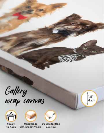 Cute Cats and Dogs Canvas Wall Art - image 1