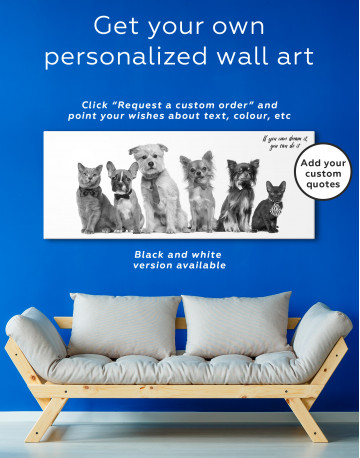 Cute Cats and Dogs Canvas Wall Art - image 4