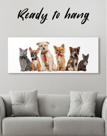 Cute Cats and Dogs Canvas Wall Art - image 2