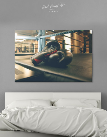 Boxing Gloves in the Ring Canvas Wall Art
