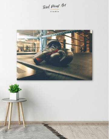 Boxing Gloves in the Ring Canvas Wall Art - image 6