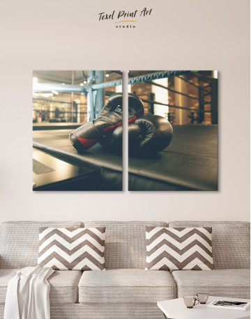 Boxing Gloves in the Ring Canvas Wall Art - image 10