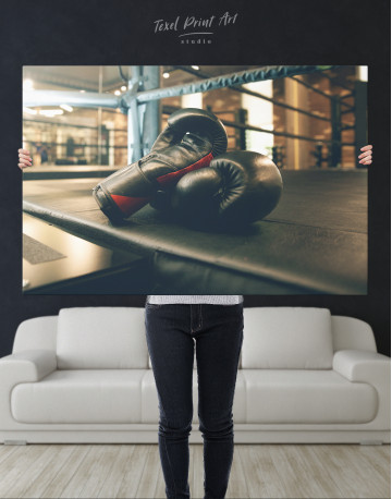Boxing Gloves in the Ring Canvas Wall Art - image 9