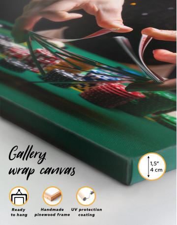 Shuffling Cards Canvas Wall Art - image 8