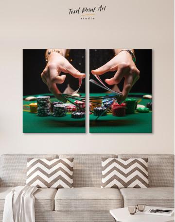 Shuffling Cards Canvas Wall Art - image 10