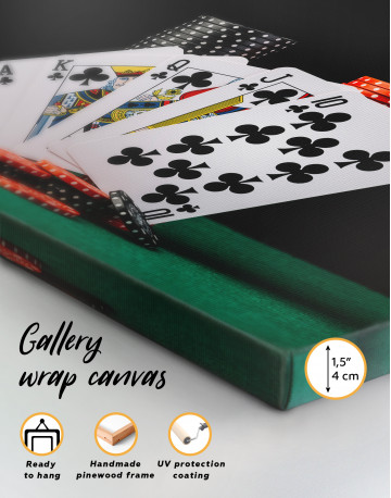 Poker Cards and Chips Canvas Wall Art - image 3