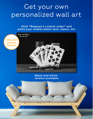 Poker Cards and Chips Canvas Wall Art - image 4