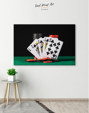 Poker Cards and Chips Canvas Wall Art - image 5