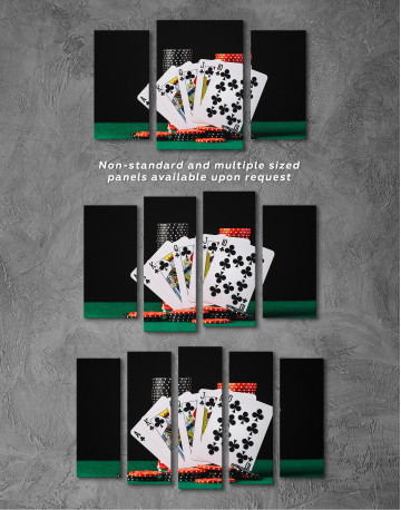 Poker Cards and Chips Canvas Wall Art - image 6