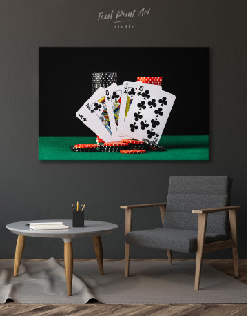 Poker Cards and Chips Canvas Wall Art - image 7