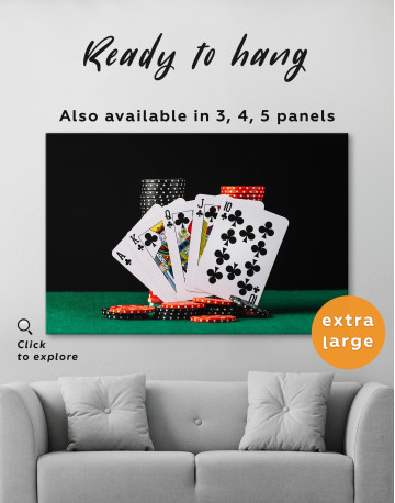 Poker Cards and Chips Canvas Wall Art - image 8
