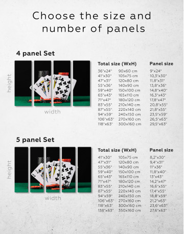 Poker Cards and Chips Canvas Wall Art - image 10