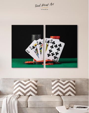 Poker Cards and Chips Canvas Wall Art - image 2