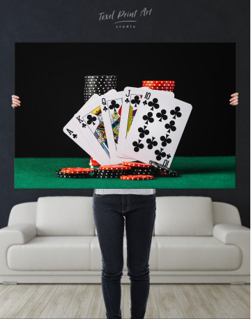 Poker Cards and Chips Canvas Wall Art - image 1
