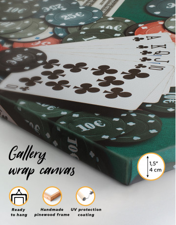 Poker Chips with Cards Canvas Wall Art - image 3