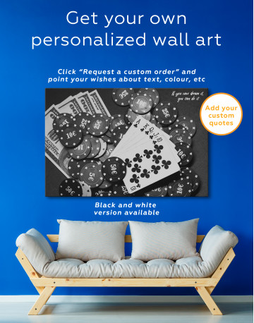 Poker Chips with Cards Canvas Wall Art - image 4