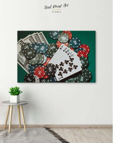 Poker Chips with Cards Canvas Wall Art - image 5