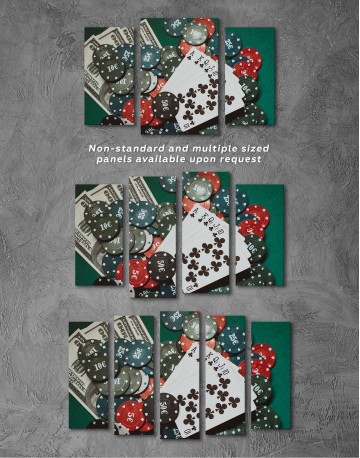 Poker Chips with Cards Canvas Wall Art - image 6