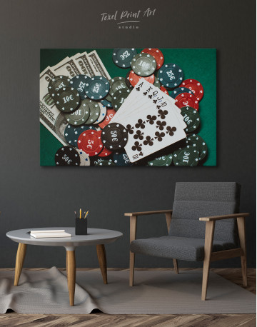Poker Chips with Cards Canvas Wall Art - image 7