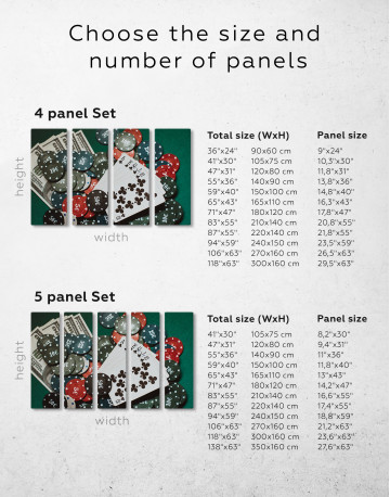 Poker Chips with Cards Canvas Wall Art - image 10