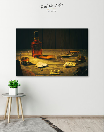 Whiskey and Poker Canvas Wall Art - image 4