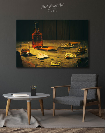 Whiskey and Poker Canvas Wall Art - image 2